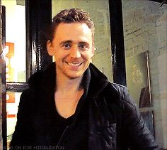 How much I love his smile!! Mmmmm…hello, gorgeous man..  Love this gif!