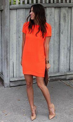 Vestidos lindos | tubinho laranja