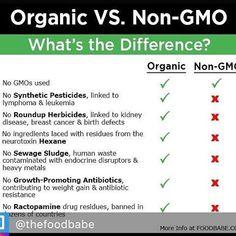 Thanks @thefoodbabe for this super helpful chart on organic vs. non-gmo! #whybuyorganic #organic #nongmo #nogmos