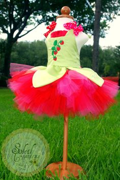 Strawberry Cake Tutu Dress by SoleilCreations on Etsy, $55.99   I want this for Alina's 1st birthday party dress!