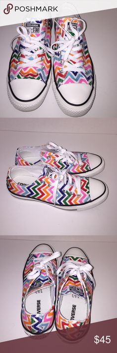 Converse All Star Multi-Color Sneakers - Worn Once Really Cute Multi-Color Converse All Star Sneakers.  I Have Only Worn These Once - Perfect Condition.  Women's Size 8/Men Size 6 Converse Shoes Sneakers
