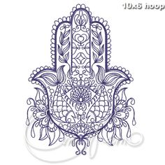 MACHINE EMBROIDERY DESIGN Hamsa embroidery Hamsa hand