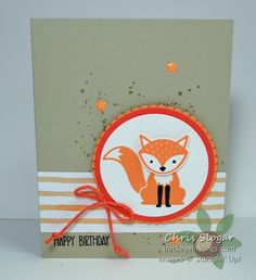 We have a soft color challenge this week at Create with Connie and Mary, and I made a card for a special one-year-old.  		 		 			 			 		 	 I do love our Foxy Friend in any shade of orange!  The greeting is from Sunshine Sayings, and the designer paper is from the Fruit Stand collection. Thank you for checking out my challenge card.  Please visit Create with Connie and Mary to see all of the cards created by my talented teammates, as well as the entries.  Hope you'll be inspired to play…
