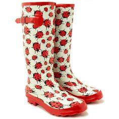 Make rainy days fun with these Firebug Rainboots! They light up