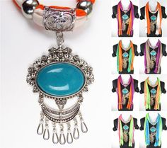 Colorful Stylish Rhinestone Jewelry Scarf Beads Wholesale Discount pendant scarves from www.jewelryscarfcanada.com
