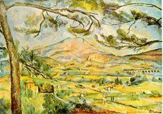 Cézanne, montaña de santa victoria, 1887