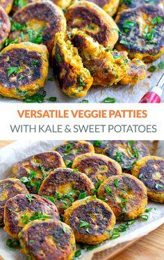 Vegetable Patties With Kale Paleo Vegetables, Healthy Vegetable Recipes, Veggies, Nut Free, Dairy Free, Gluten Free, Veggie Side Dishes, Side Dish Recipes, Veggie Patties