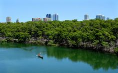 Oleta River State Park -- Florida's largest urban park, Oleta River is located on Biscayne Bay in the busy Miami metropolitan area.