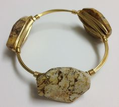 Bourbon and Boweties Wire & Stone Bracelet (78)