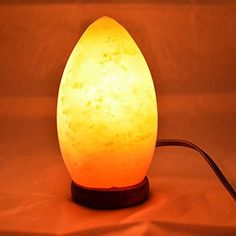 "Hand Carved Crystal Himalayan Rock Salt Egg Lamp Air Purifier 5x7"" #SaltLamps"