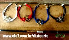 Pulseiras Navy     www.elo7.com.br/dixiearte