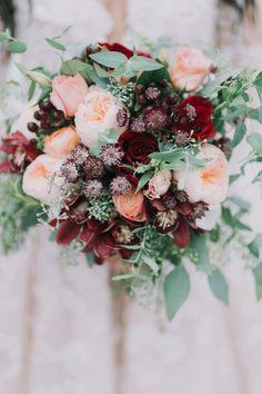 A Snowy Fairytale Wedding at Hardy Farm in Maine – A Princess Inspired Winter Wedding Flowers, Rustic Wedding Flowers, Fall Wedding Bouquets, Flower Crown Wedding, Wedding Flower Arrangements, Flower Bouquet Wedding, Floral Wedding, Bridal Bouquets, Burgundy Wedding