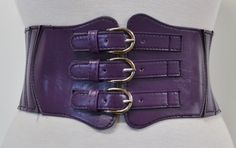 purple corset belt