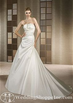 White One Bridal Gown Toluca - Visit Wedding Shoppe Inc. for designer bridal gowns, bridesmaid dresses, and much more at http://www.weddingshoppeinc.com