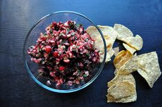 Fresh Cranberry Salsa - pair with cream cheese and crackers or as a condiment on a turkey sandwich :)