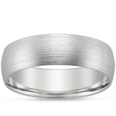 18K White Gold 6mm Matte Comfort Fit Wedding Ring from Brilliant Earth