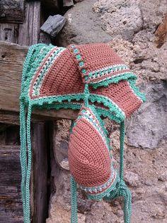 crochet bikini in salmon tan Loved By Nature  by GoodMoodCreations