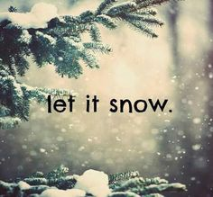 **let it snow, let it snow, let it snow**  PLEASE!?!