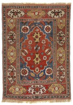 VAN-HAM Kunstauktionen Transylvanian rug, so-called »Siebenbürger«, Southwest Anatolia, fragment.  17th C. 151 x 107cm.
