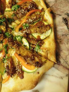Thai Tempeh Pizza