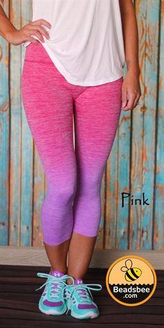 Your new favorite workout leggings are here! These trendy cropped leggings are perfect to wear to the gym or out and about running errands. Our new Ombre Workout Capris are definitely going to make heads turn as you walk out the door!Made of 60% Nylon, 28% Polyester, 12% Spandex.SIZES: Small (0-4)Medium (6-8)Large (10-12)XL (14-16)Model is a size 1-2 and wearing a Small/Medium.