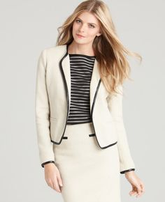 Herringbone Jacket via Ann Taylor