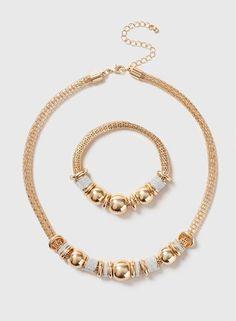 Glitter Necklace And Bracelet