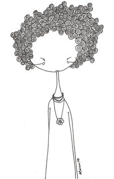 Summertime, and the weather is fine. Doodle Art Drawing, Zentangle Drawings, Zen Doodle, Painting & Drawing, Doodle People, Illustrations, Illustration Art, Pattern Art, Easy Drawings