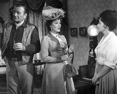 """McLintock!"" . . . John Wayne, Maureen O'Hara and Yvonne De Carlo"
