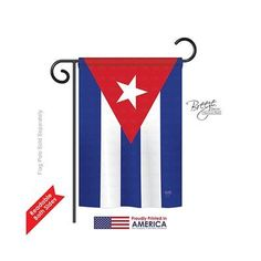 """TwoGroupFlagCo Cuba 2-Sided Vertical Flag Size: 18.5"""" H x 13"""" W"""