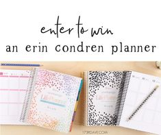 Win an #ErinCondren Planner