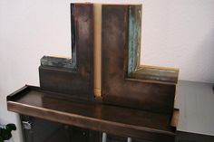 PVC profiles covered with VeroMetal Bronse, black patina