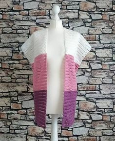 The Summer Breeze Cardi As our chunky Carefree Cardi was such a big hit we decided to release a Dk version, as who doesn't want a light weigh. Gilet Crochet, Bag Crochet, Crochet Cardigan Pattern, Crochet Shawl, Crochet Clothes, Crochet Patterns, Crochet Vests, Crochet Sweaters, Crochet Tops