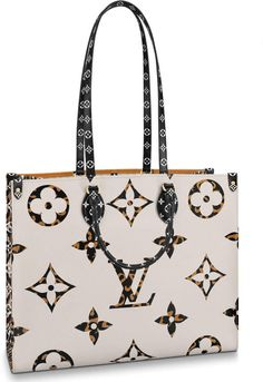 Buy and sell authentic handbags including the Louis Vuitton Onthego Monogram Giant Jungle Ivory/Havana Beige in Canvas with Gold-tone and thousands of other used handbags. Popular Handbags, Cute Handbags, Beautiful Handbags, Purses And Handbags, Cheap Purses, Unique Purses, Louis Vuitton Handbags, Louis Vuitton Monogram, Lv Tote