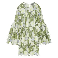 Image result for asos embroidered trumpet sleeve dress