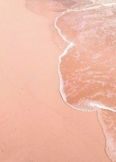 pink sandy beach