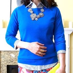J. Crew Cerulean Blue Tippi Sweater J. Crew Blue Tippi Sweater.  -Three-quarter sleeves. -Rib trim at neck, cuffs and hem. -Semifitted. -Hits at hip. -Tag fell off, but size Medium. -Excellent condition!   NO Trades. Please make all offers through offer button. J. Crew Tops
