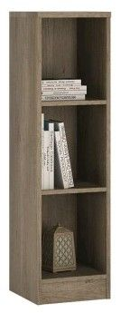 4You Medium Narrow Bookcase In Canyon Grey.   This medium height narrow bookcase has adjustable shelves, and can be used as bookcase, storage area for DVD's and CD's or as a display unit for your treasured ornaments.      Size W 300  x H 1114  x D 346 mm     Canyon Grey     Number of boxes: 1     Laminated board ( resistant to damage and scratches, moisture and high temperature )     Metal brackets     Easy self Assembly    SKU: 4059552  Special Price: £39.00