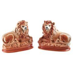 Chinoiserie, Chandeliers, Antique Collectors, Fleas, Lion Sculpture, Porcelain, Pairs, Statue, Ceramics
