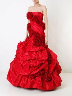 Rubin Singer strapless fishtail gown