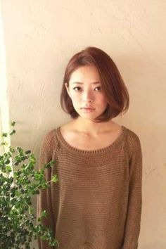 cute korean japanese asian womens shoulder length wavy