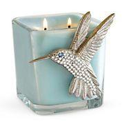 Swarovski Crystal Hummingbird Candle