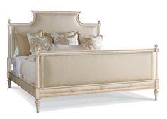 Hickory White - 305-25 King Upholstered Panel Bed W 83.5 D 88 H 62.5 #CustomFinish