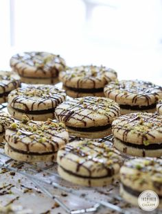 Pistachio Shortbread Cookies with Dark Chocolate Filling from @Michael Wurm, Jr. {inspiredbycharm.com}