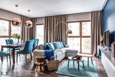 Nadmorski apartament - Średni salon z jadalnią, styl nowoczesny - zdjęcie od SAS Wnętrza i Kuchnie