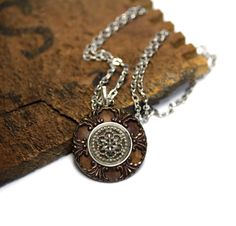 Antique Button Necklace by ChatterBlossom #antique #jewelry