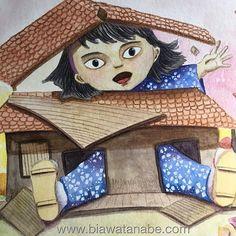 Cresci demais!!!! aquarela desenho ilustracao ilustracaoinfantil watercolor drawing girl cutehellip