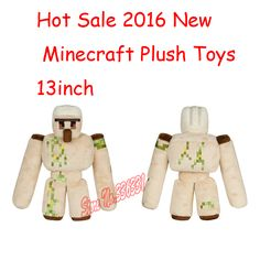 2016 New Products 13inch MCft Iron Golem Plush Toys Official Minecraft Perfet For Kids Soft Stuffed Perfect Gift Free Shipping
