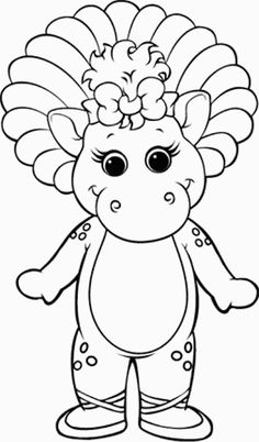 Barney Drive Train | Barney Coloring Pages | Pinterest | Trains