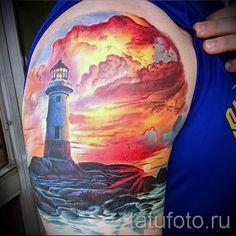 тату закат солнца - фото классной готовой татуировки от 14072016 4